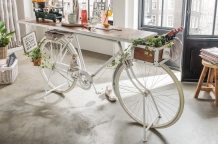 Sidetable Fiets wit