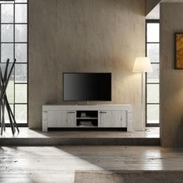 Witte Tv Kast Dressoir.Landelijke Opbergkast Met Vier Deuren Kopen Aktiewonen Nl
