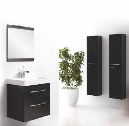 Hoogglans kast badkamer aktie - Moderne badkamerkast ...