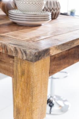 Massief houten bartafel mango hout kopen aktie for Houten bartafel