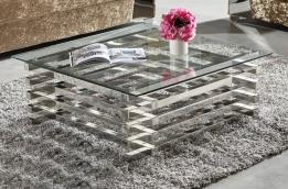 Vierkante Salontafel Met Glas.Salontafel Salontafels In Hoogglans Bij Aktiewonen Nl