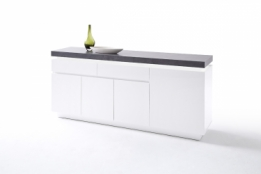 betonlook dressoir mat wit