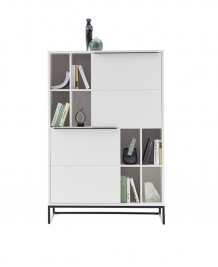 Lille highboard mat wit