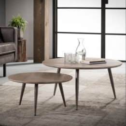 salontafel set rond greywash
