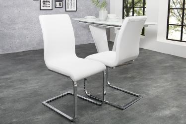 witte moderne stoelen eetkamer | Aktie wonen.nl