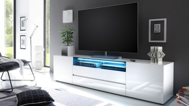 hoogglans tv-meubel incl LED verlichting