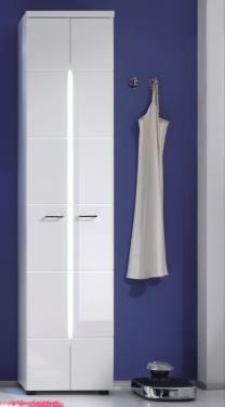 Hoge Witte Badkamerkast.Hoge Kast Hoogglans Voor Badkamer Aktie Wonen Nl