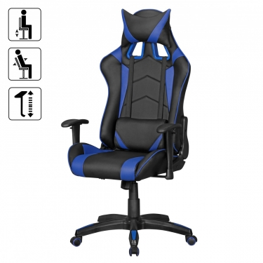 gaming chair blauw