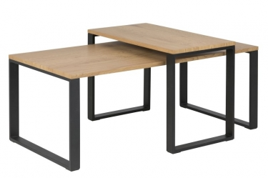 salontafel set eiken look